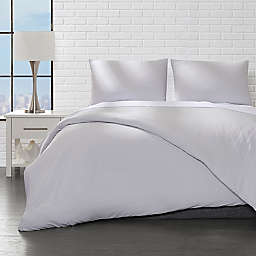 Ella Jayne Home Collection Brushed 3-Piece Full/Queen Duvet Cover Set in Silver