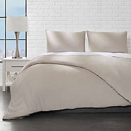 Ella Jayne Home Collection Brushed 3-Piece King/California King Duvet Cover Set in Taupe