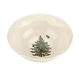 Spode® Christmas Tree 6.75-Inch Embossed Candy Bowl in White