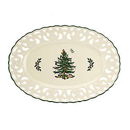 Spode® Christmas Tree 15-Inch Oval Dish in White