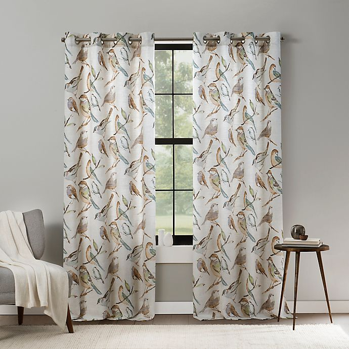 Alternate image 1 for Mercantile Altura Bird Light Filtering Grommet Window Panel (Single)