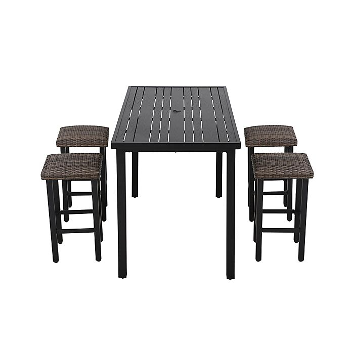 Alternate image 1 for Barrington 5-Piece High Patio Dining Set in Brown