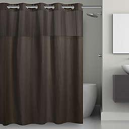 Hookless® Waffle 71-Inch x 74-Inch Fabric Shower Curtain in Dark Grey
