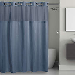 Hookless® Waffle 54-Inch x 80-Inch Stall Fabric Shower Curtain in Moonlight Blue