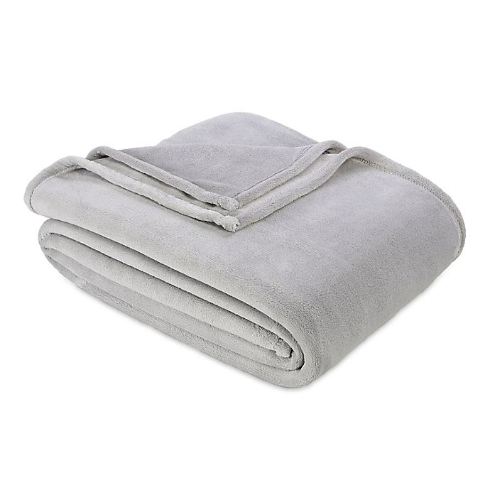 Alternate image 1 for Berkshire Blanket® Serasoft® Full/Queen Plush Blanket in Grey