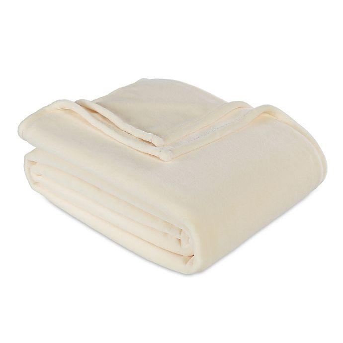 Alternate image 1 for Berkshire Blanket® Serasoft® Twin Plush Blanket in Cream