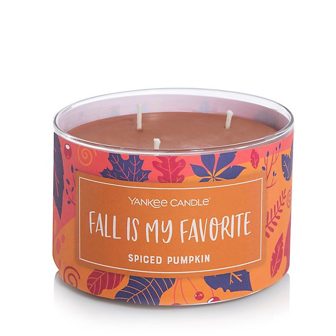 Alternate image 1 for Yankee Candle® 3-Wick Spiced Pumpkin Seasonal Candle