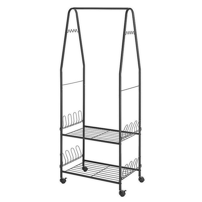 Alternate image 1 for Whitmor Multi-Functional Garment Rack in Black