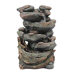 Luxen Home Cascading Rock Outdoor Fountain