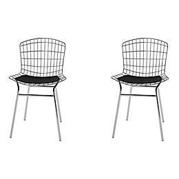 Manhattan Comfort Madeline Industrial Chrome Dining Chair