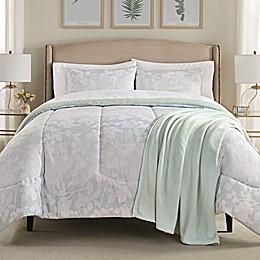 Harper Comforter Set in Pale Aqua