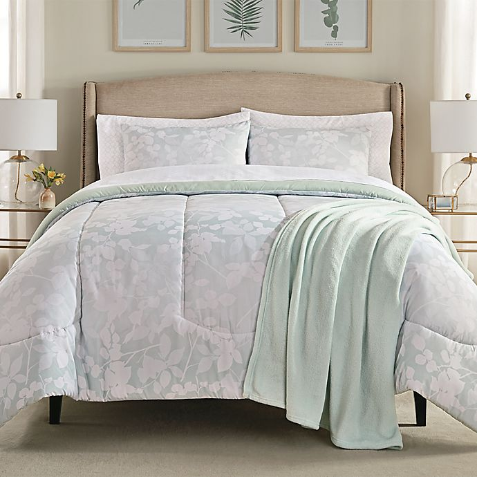 Alternate image 1 for Harper 8-Piece Queen Comforter Set in Pale Aqua