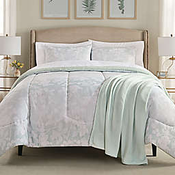 Harper 8-Piece Queen Comforter Set in Pale Aqua