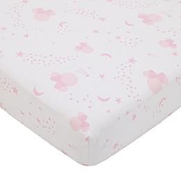Disney® Twinkle Minnie Crib Sheet in Pink