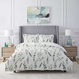 Pointehaven Eucalyptus Printed 2-Piece Twin/Twin XL Duvet Cover Set in Sage
