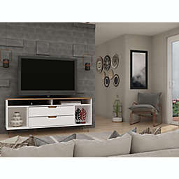 Manhattan Comfort© Rockefeller 62.99-Inch TV Stand in Off-White/Natural