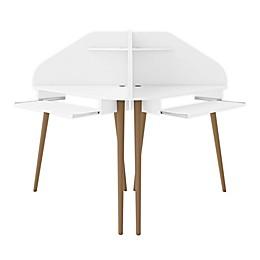 Manhattan Comfort© Bradley 2-Piece Cubicle Section Desk
