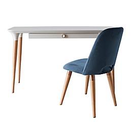 Manhattan Comfort© HomeDock Office Desk and Selina Chair Set