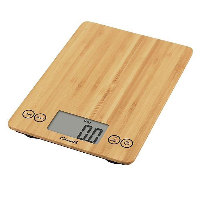 Alternate image 1 for Escali® Bamboo Arti 15-Pound Food Scale