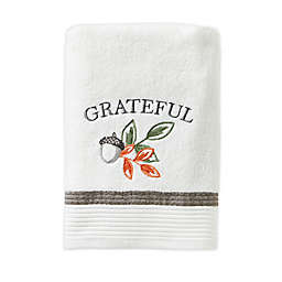 Nature's Harvest Bath Towel in White