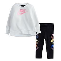 Nike NKG Futura Stack Legging Set in White/Black