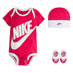 Nike Size 0-6M Futura Logo 3-Piece Box Set