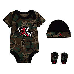 Jordan Newborn 3-Piece Jumpman Classics III Bodysuit, Hat, and Booties Set in Black