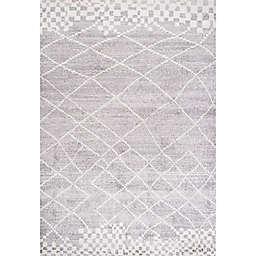 JONATHAN Y Asilah Moroccan Modern Diamond Light Gray Area Rug