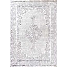 JONATHAN Y Mughal Ornate Medallion Traditional Gray Area Rug