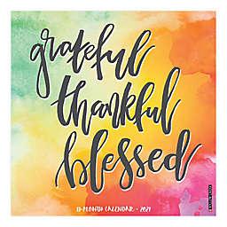 2021 Grateful Thankful Blessed Wall Calendar
