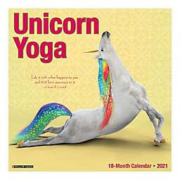 Unicorn Yoga 18-Month July 2020 to December 2021 Wall Calendar