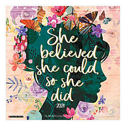 She Believed She Could 18-Month July 2020 to December 2021 Wall Calendar