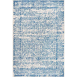 JONATHAN Y Azul Filigree  8' x 10' Area Rug in Blue and White Cream/Blue