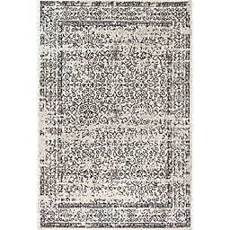 JONATHAN Y Ferro Filigree 8' x 10' Area Rug in Charcoal Black and White Charcoal/Black