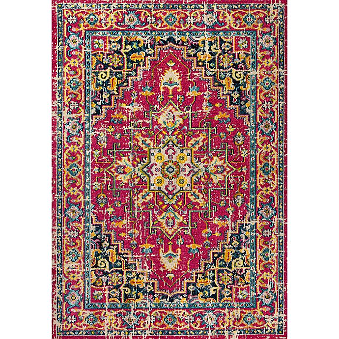 Alternate image 1 for JONATHAN Y Brooklyn Geometric Medallion 4' x 6' Area Rug in Red/Pink