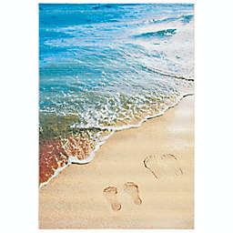 Safavieh Barbados Footprint Area Rug in Gold