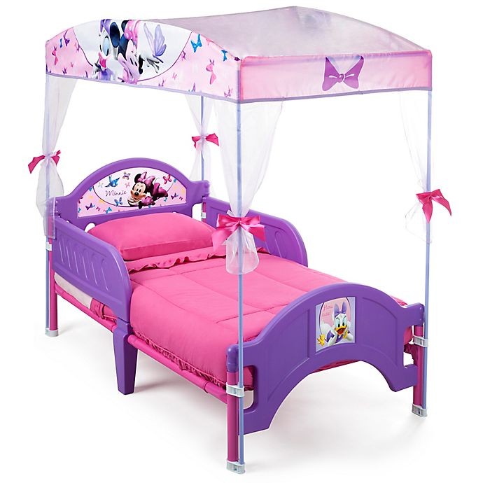 Alternate image 1 for Disney® Minnie Mouse Canopy Toddler Bed in Pink