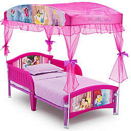 Disney Princess Canopy Toddler Bed in Pink by Delta Children