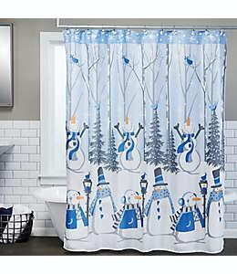 Cortina de baño y ganchos SKL Home de muñecos de nieve