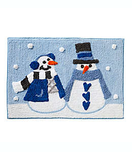 Tapete para baño Snow Buddies color azul