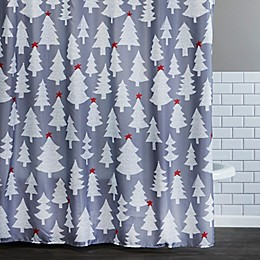 Holiday Fir 72-Inch x 72-Inch Shower Curtain with Hooks
