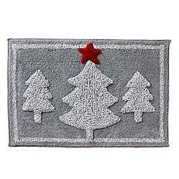 "Holiday Fir 20"" x 30"" Bath Rug in Grey"