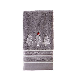 Holiday Fir Tip Towel in Silver