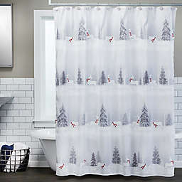 SKL Home Silver Snow Shower Curtain Collection