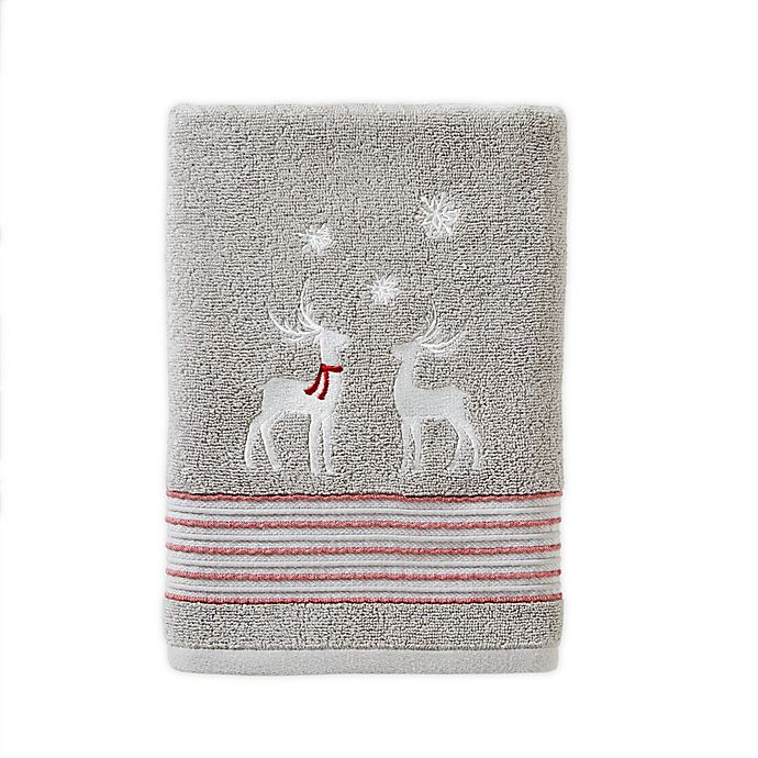 Alternate image 1 for SKL Home Winter Snow Bath Towel in Silver