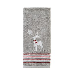 SKL Home Silver Snow Hand Towel in Silver
