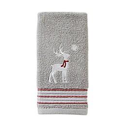 SKL Home Silver Snow Fingertip Towel in Silver