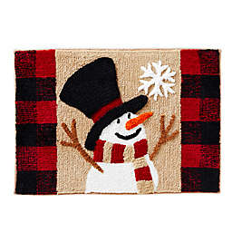 """SKL Home Winter Snow Friends 30"""" x 20"""" Bath Rug in Natural"""