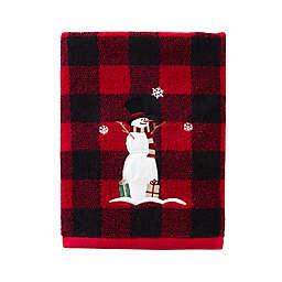 SKL Home Winter Snow Friends Bath Towel in Red