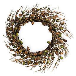 Boston International 22-Inch Acorns For Days Decorative Wreath